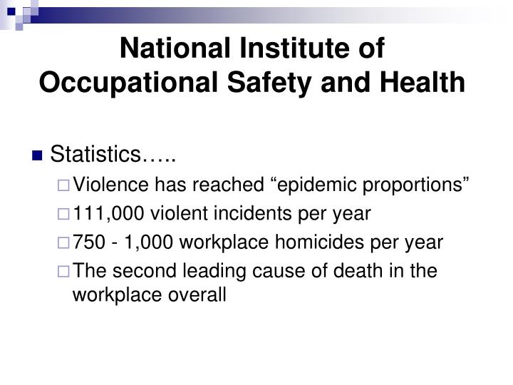 National Institute of Occupational Safety and Health