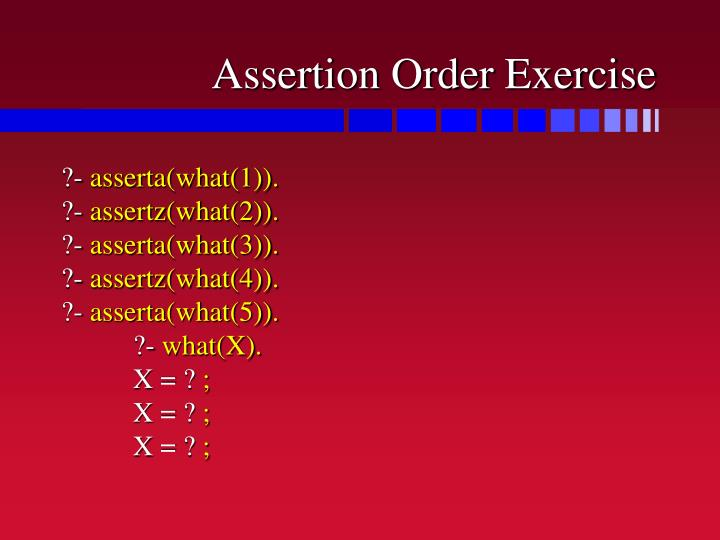 Assertion Order Exercise