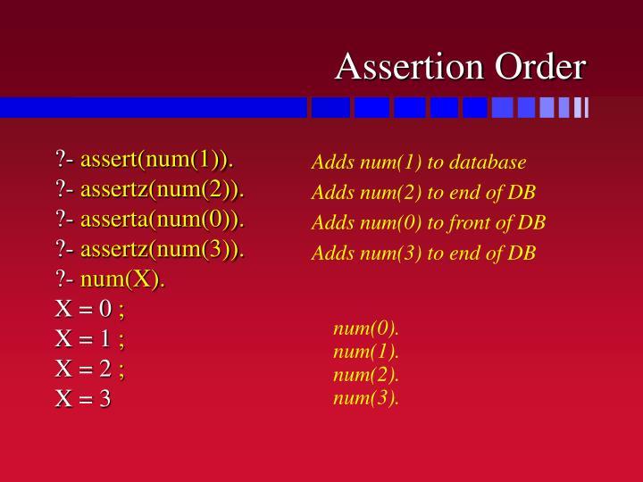 Assertion Order