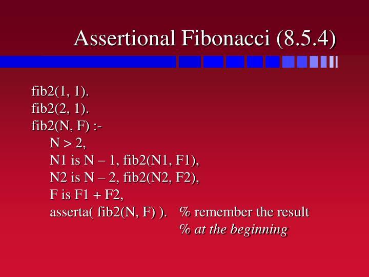 Assertional Fibonacci (8.5.4)