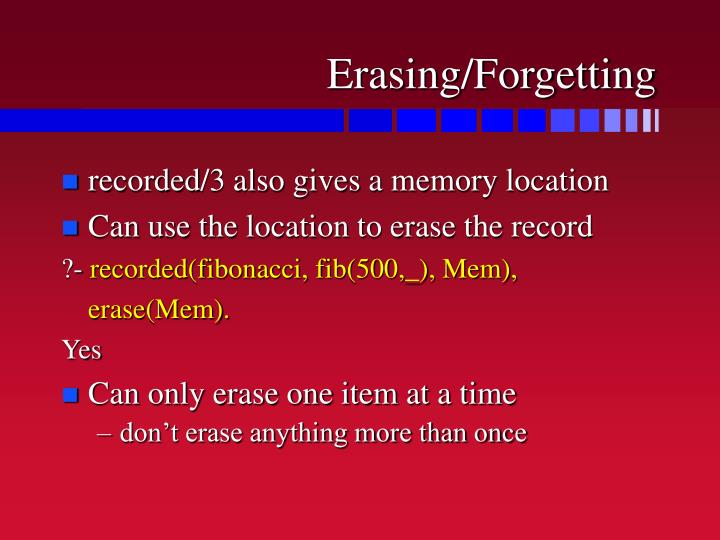 Erasing/Forgetting