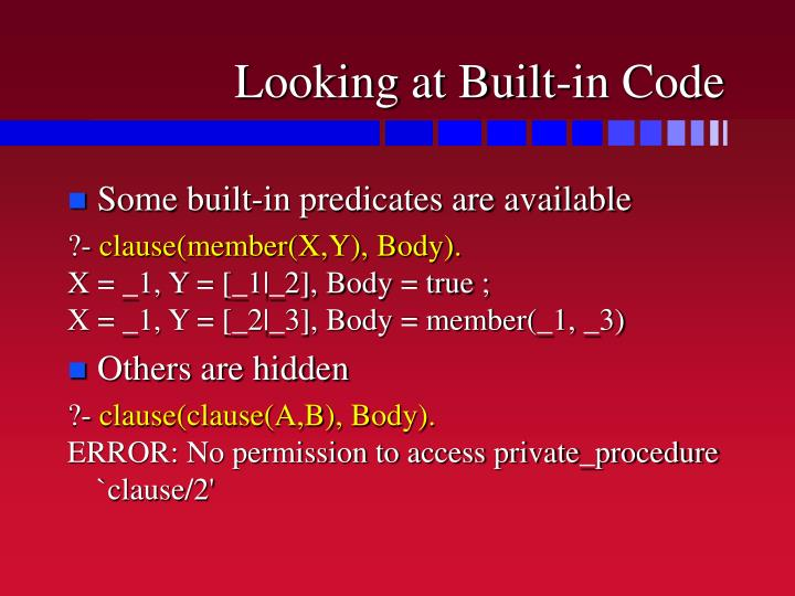 Looking at Built-in Code