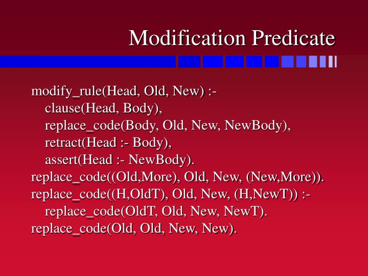 Modification Predicate