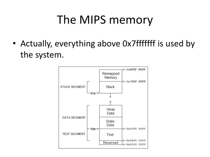 The mips memory