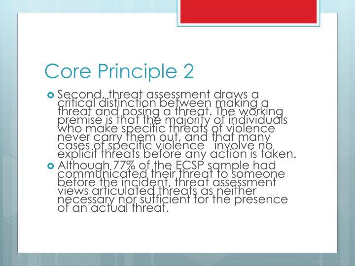 Core Principle 2