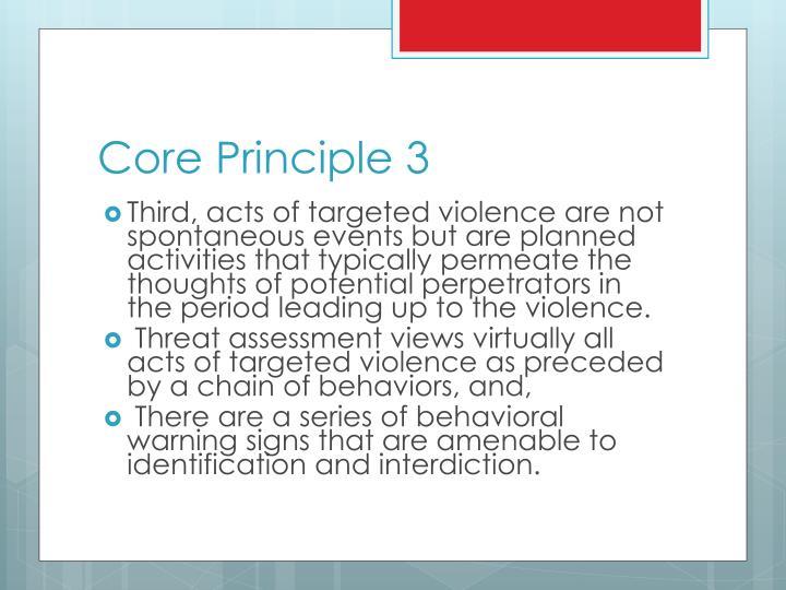 Core Principle 3