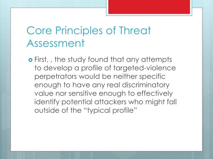 Core Principles of Threat Assessment