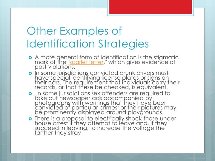 Other Examples of Identification Strategies