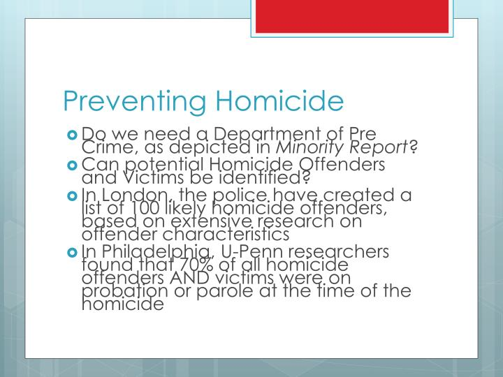 Preventing Homicide