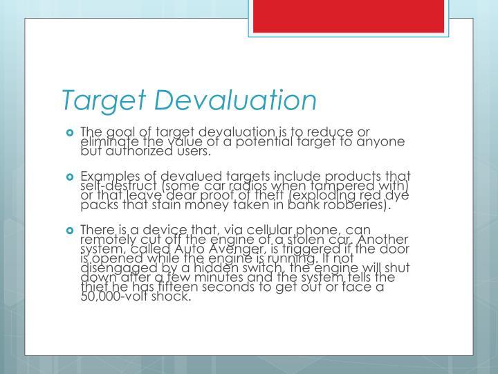 Target Devaluation