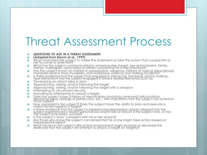 Threat Assessment Process