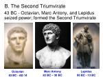 b the second triumvirate