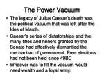 the power vacuum