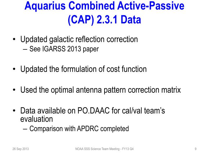 Aquarius Combined Active-Passive (CAP)