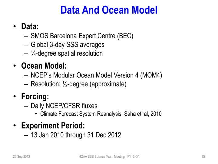 Data And Ocean Model