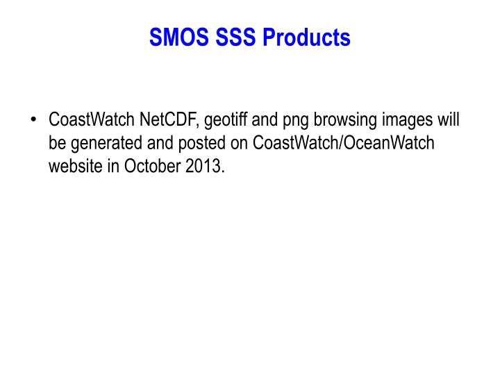SMOS SSS Products