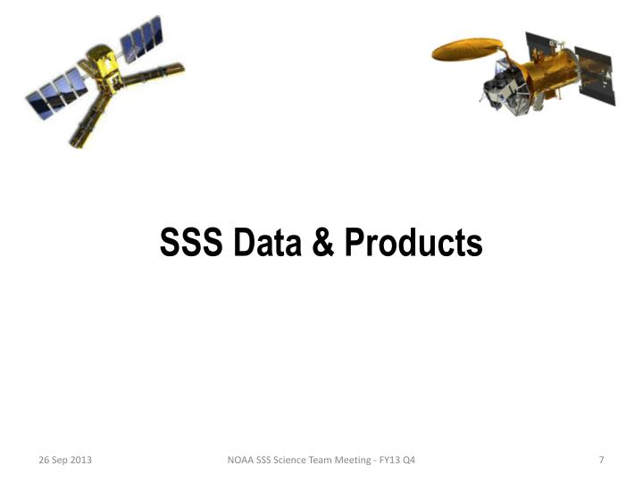 SSS Data & Products