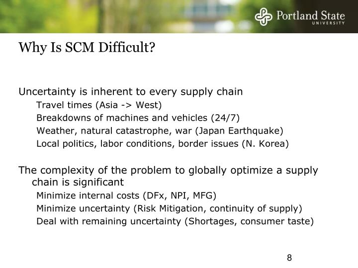Why Is SCM Difficult?