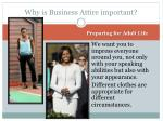 why is business attire important