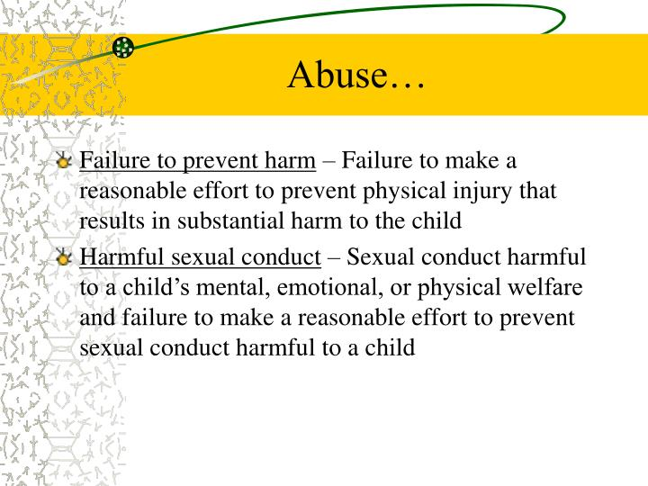 Abuse…