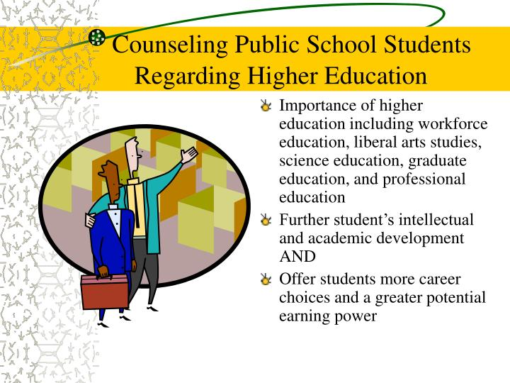 Counseling Public School Students Regarding Higher Education