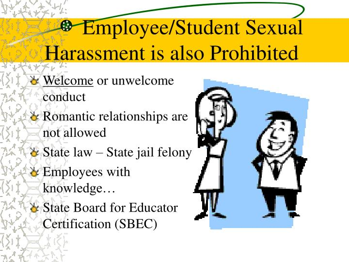 Employee/Student Sexual Harassment is also Prohibited