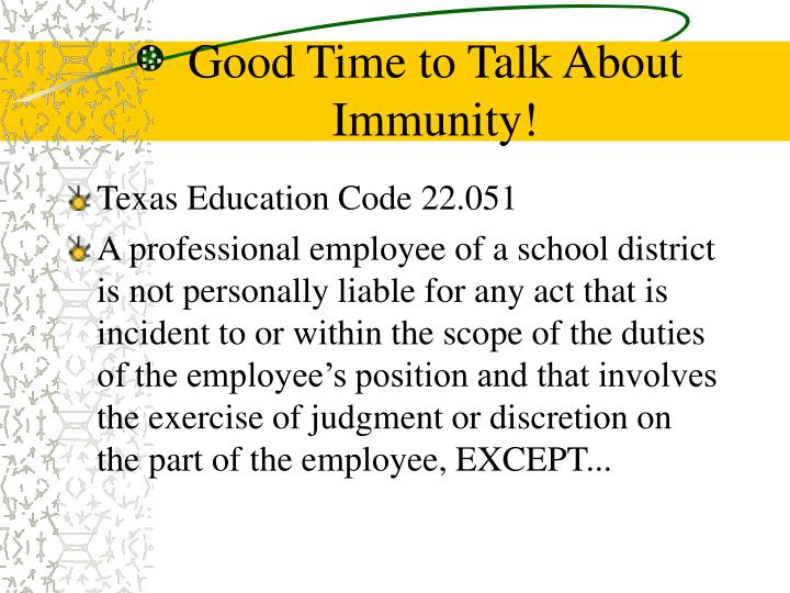 Good Time to Talk About Immunity!