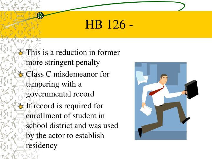 HB 126 -
