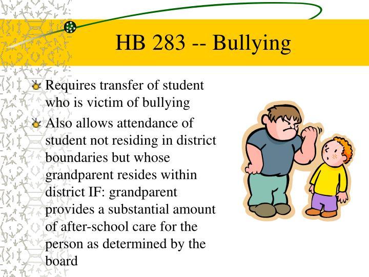 HB 283 -- Bullying