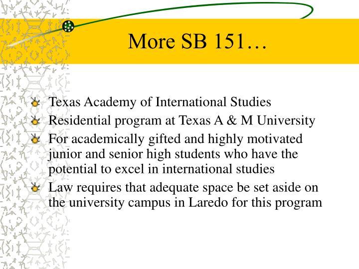 More SB 151…