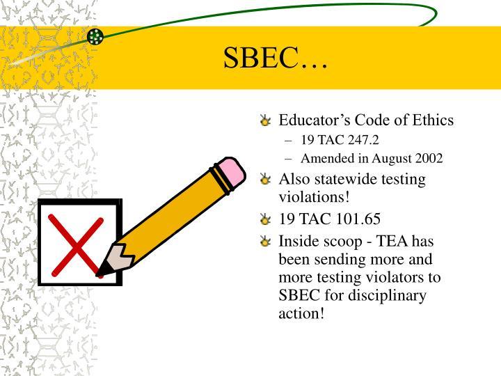 SBEC…