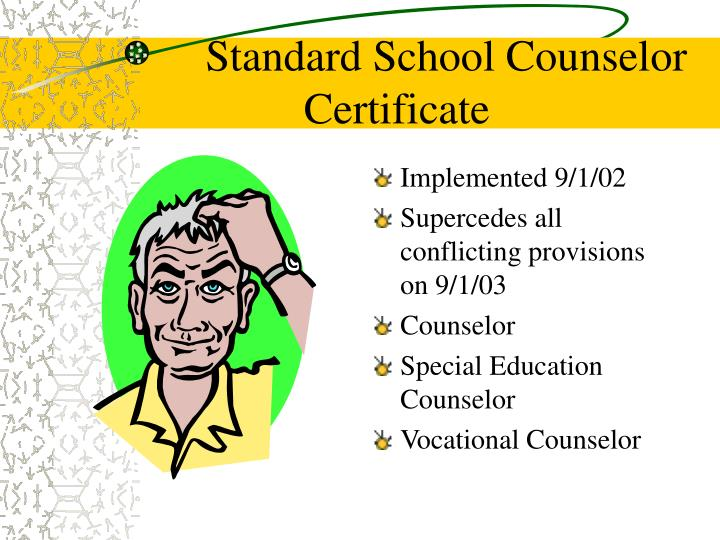 Standard School Counselor Certificate