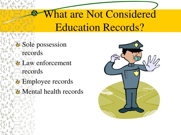 What are Not Considered Education Records?