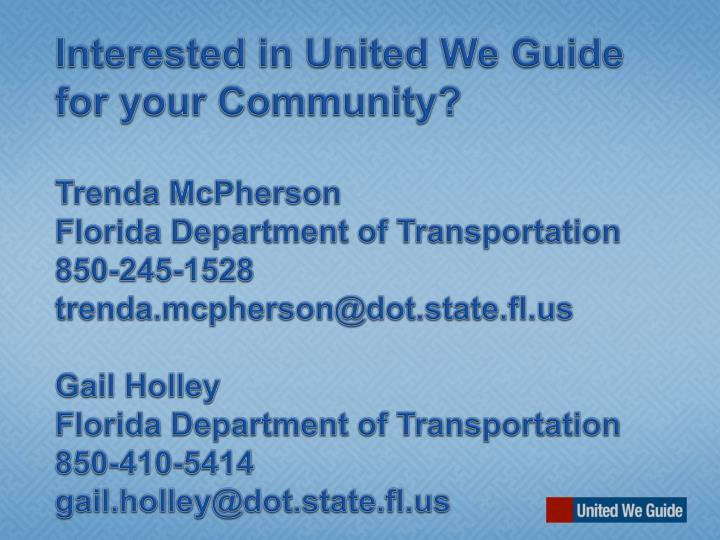 Interested in United We Guide