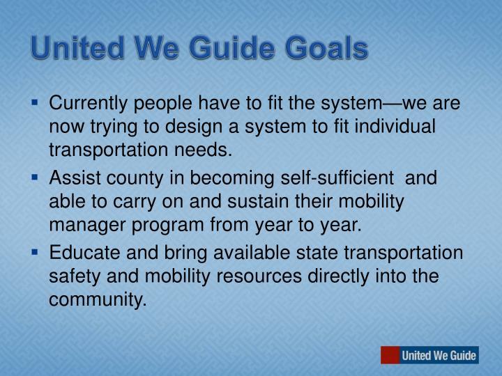 United We Guide Goals