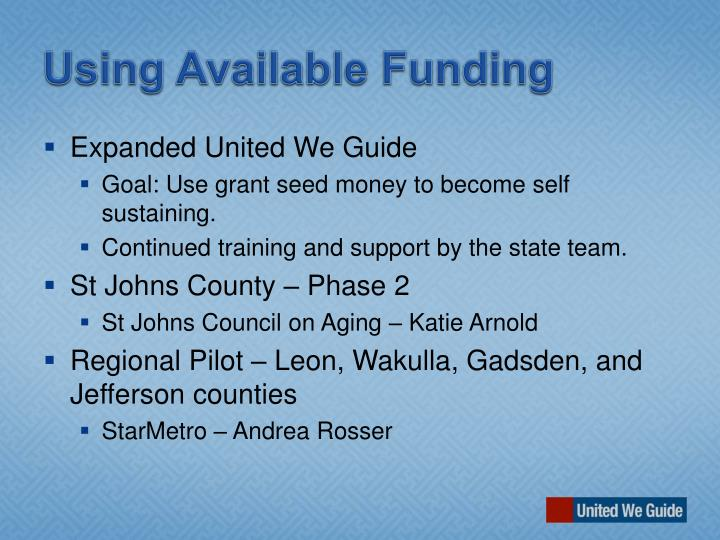 Using Available Funding