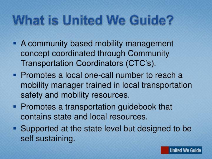 What is United We Guide?