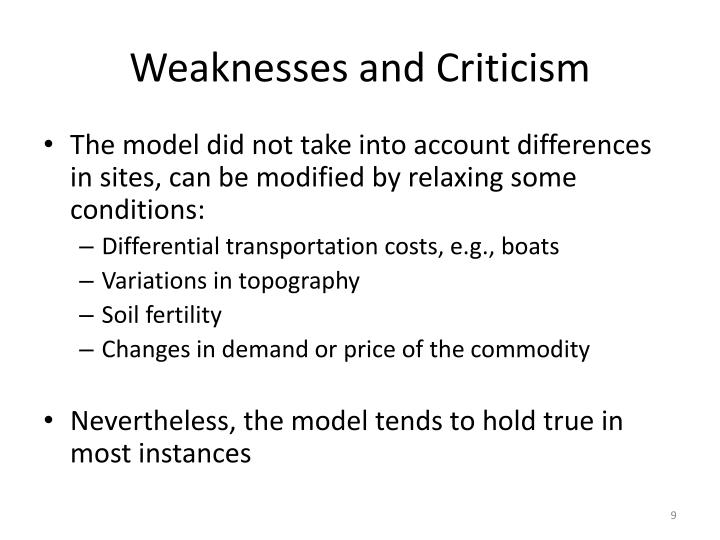 Weaknesses and Criticism