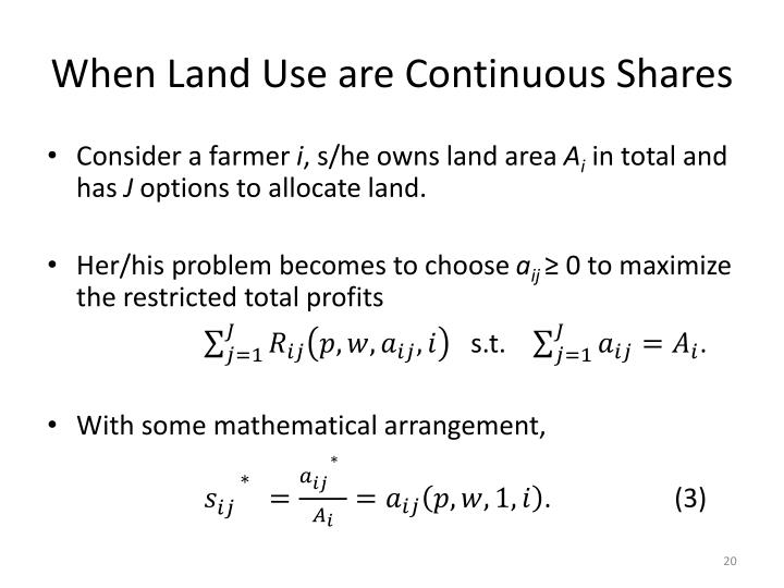 When Land Use are