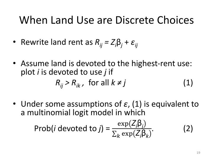 When Land Use are Discrete