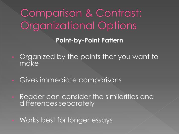 Comparison & Contrast: