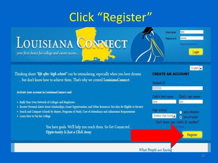 """Click """"Register"""""""