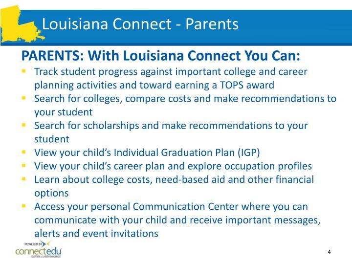 Louisiana Connect - Parents