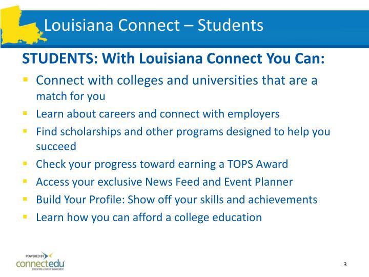 Louisiana Connect – Students