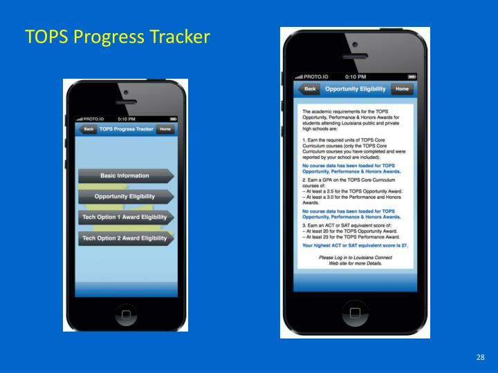 TOPS Progress Tracker