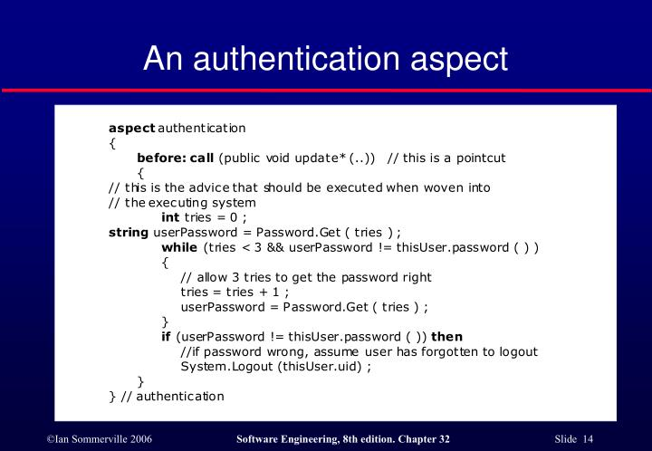 An authentication aspect
