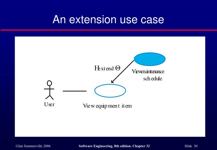 An extension use case
