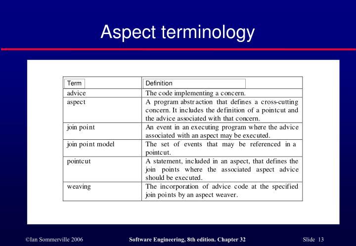 Aspect terminology