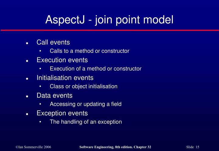 AspectJ - join point model
