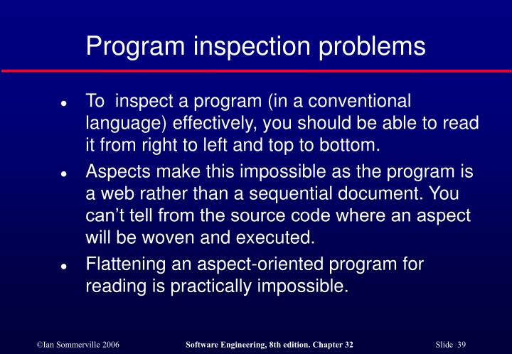 Program inspection problems